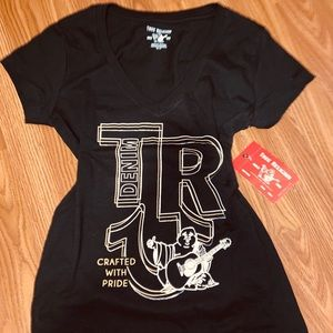 True Religion V Neck Tee